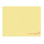 Lugar Americano Amarelo Listrado ''Amor''  Coleção Camila 44x35 cm