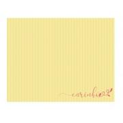 Jogo Americano Amarelo Listrado ''Carinho''  Coleção Camila 44x35 cm