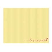 Lugar Americano Amarelo Listrado ''Ternura''  Coleção Camila 44x35 cm