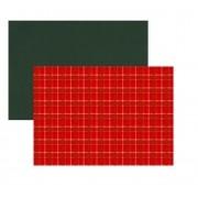 Jogo Americano Vermelho Xadrez Dupla Face 35x45 cm