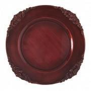Sousplat Galles Barroco Rouge Antique 33 cm