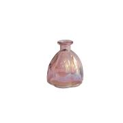 Vaso Pequeno de Vidro Rosa 10x11 cm