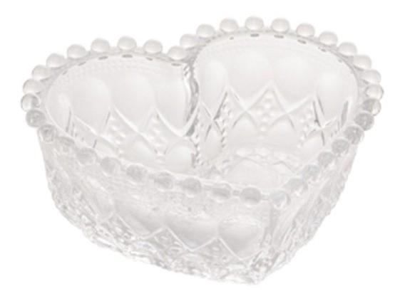 Bowl Médio de Coração com Borda de Bolinha Balls  13,5x12x5cm