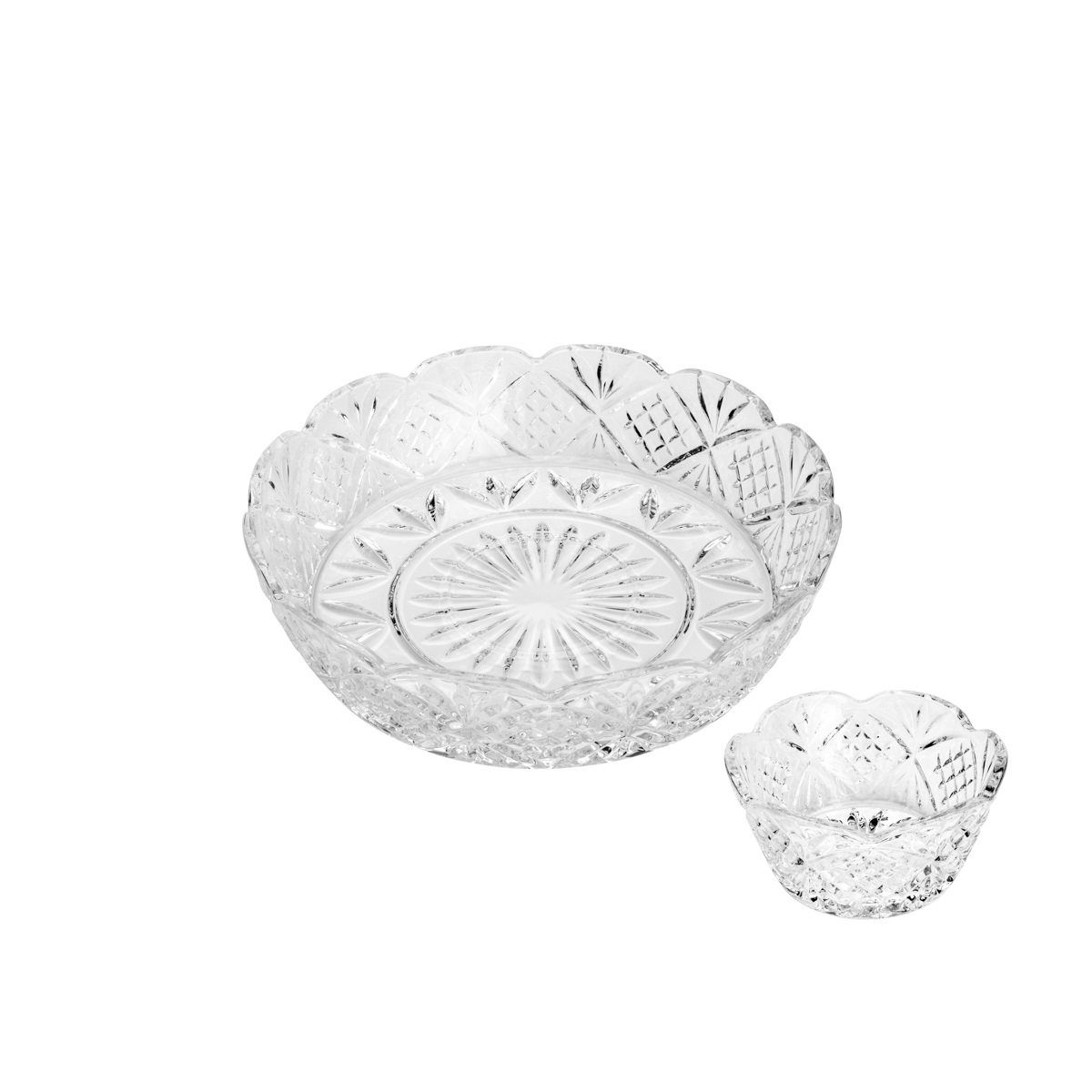 Conjunto com 2 Peças Petisqueira com Molheira  em Cristal Dublin 29,5x7,4cm/12,5x6,3cm