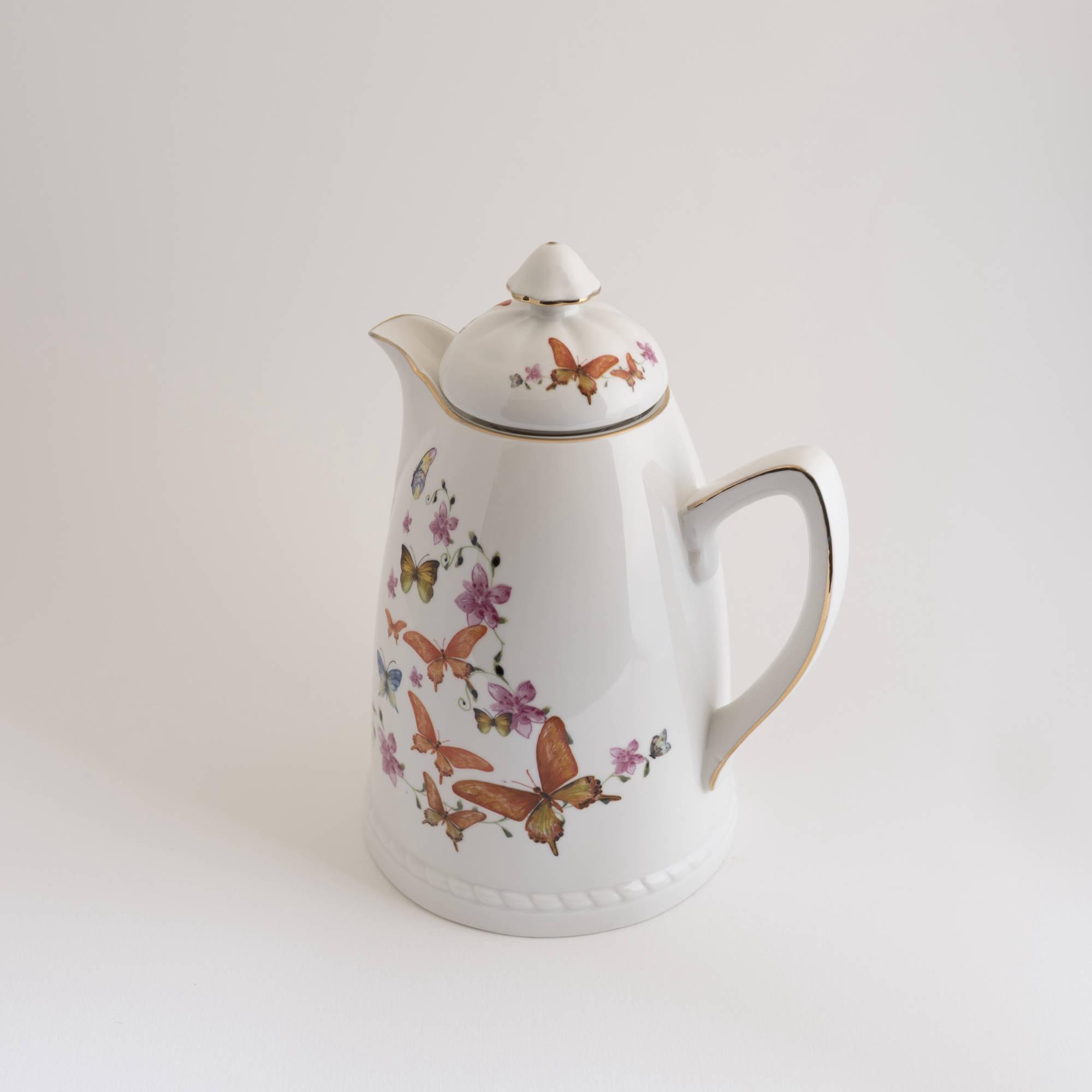 Garrafa Térmica de Porcelana Borboletas 750 ml