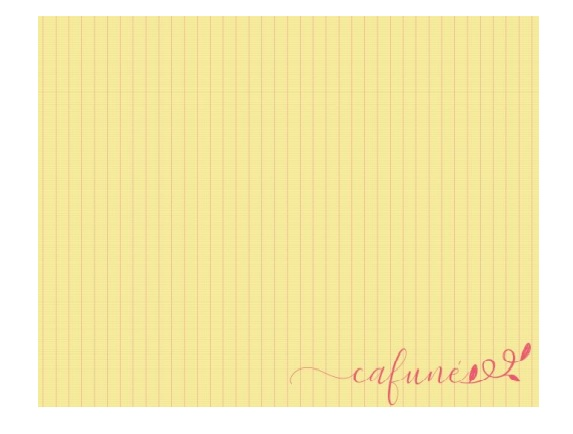 Jogo Americano Amarelo Listrado ''Cafuné''  Coleção Camila 44x35 cm