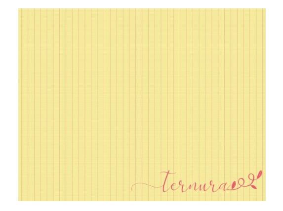 Jogo Americano Amarelo Listrado ''Ternura''  Coleção Camila 44x35 cm