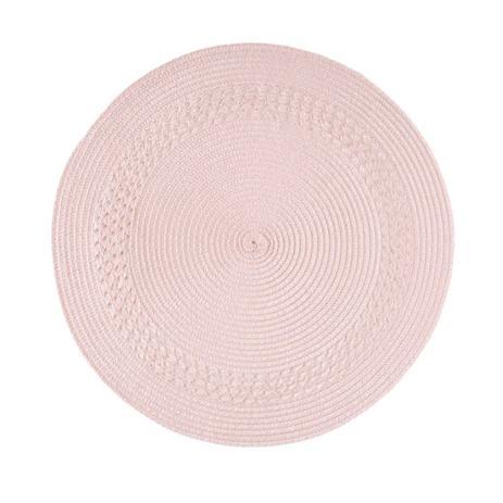 Jogo Americano Luna Tresse Rosa Chá 38 cm