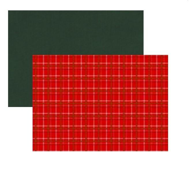 Lugar  Americano Vermelho Xadrez Dupla Face 35x45 cm