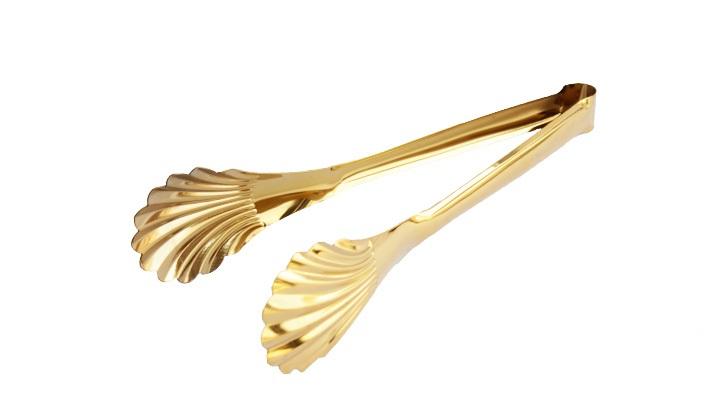 Pegador para Salada em Metal Dourado 30x4,5 cm