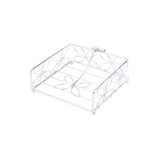 Porta Guardanapo de Ferro Cromado 18x18x7,5 cm