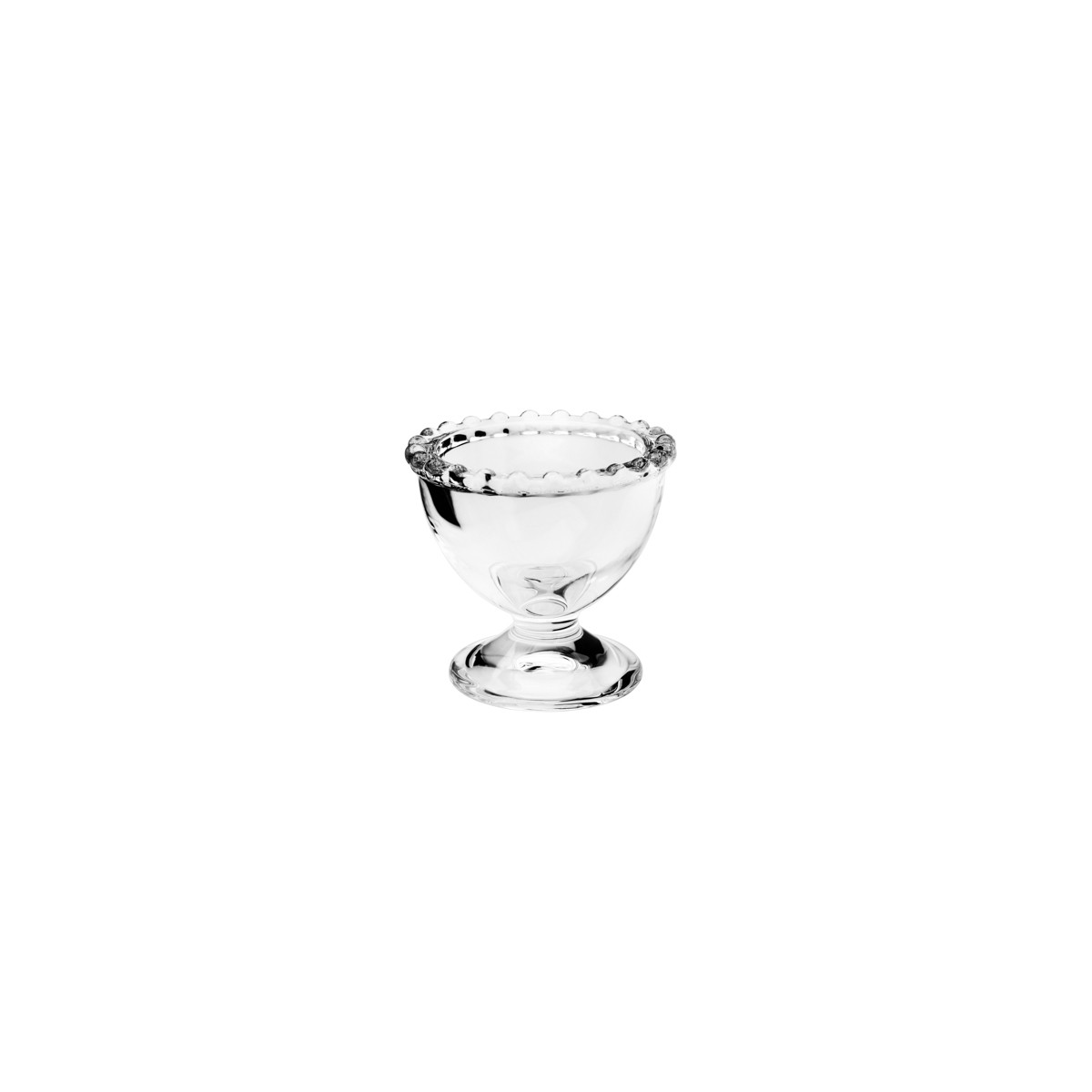 Conjunto com 6 Porta Ovos em Cristal Pearl 6x6 cm