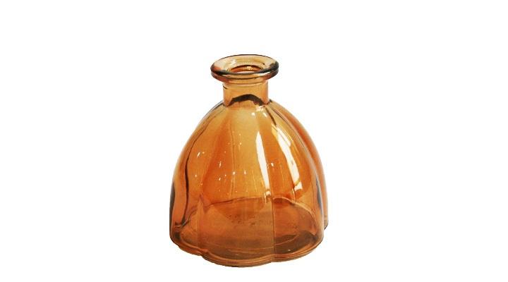 Vaso Pequeno de Vidro Âmbar 10x11 cm