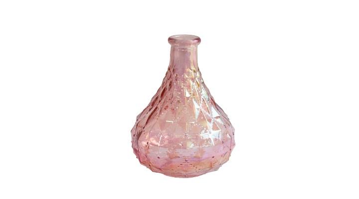 Vaso Pequeno de Vidro Rosa 9,5x13 cm
