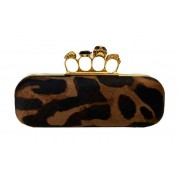 CLUTCH ALEXANDER MCQUEEN ANIMAL PRINT