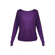 SUÉTER MIXED TRICOT ROXO TAM P