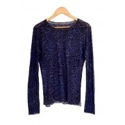SUETER ZADIG & VOLTAIRE ANIMAL PRINT AZUL SIZE SMALL