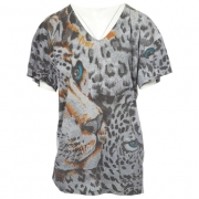 T-SHIRT STELLA MC CARTNEY CINZA EST. ONÇA SIZE XS