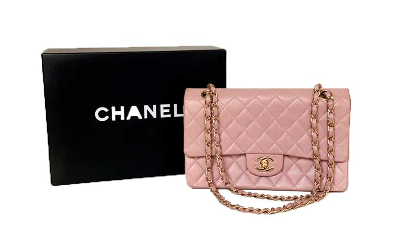BOLSA CHANEL 225 LAVANDA C/ DUSTBAG E CAIXA