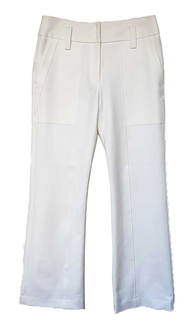 CALÇA MIXED OFF WHITE FLARE C/ETIQUETA TAM 42