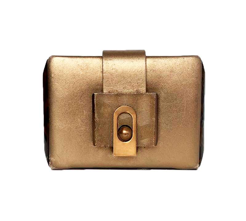 CLUTCH LANVIN OURO VELHO