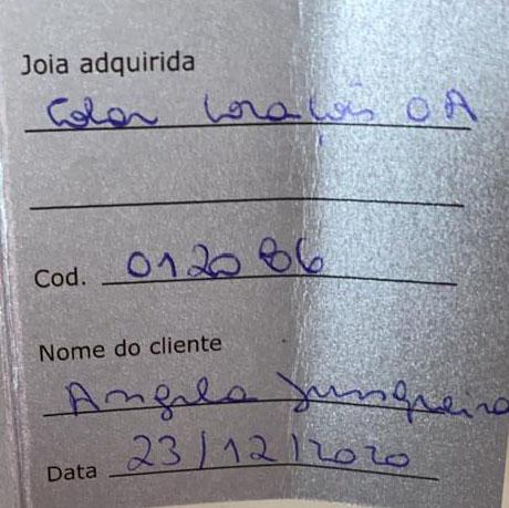 COLAR CORAÇÃO VAZADO DASSA DANNA OURO