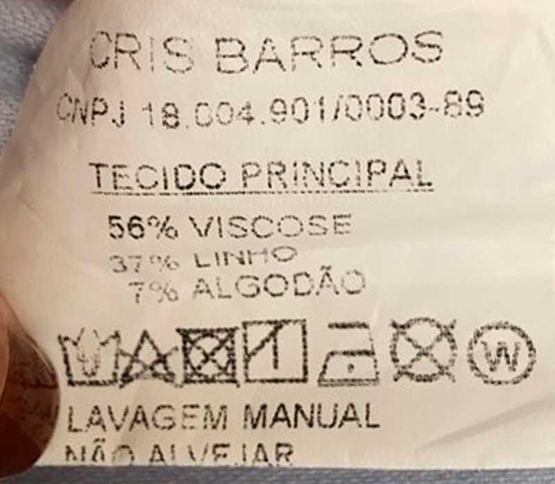 CONJUNTO CRIS BARROS LINHO AZUL BEBE TAM 36