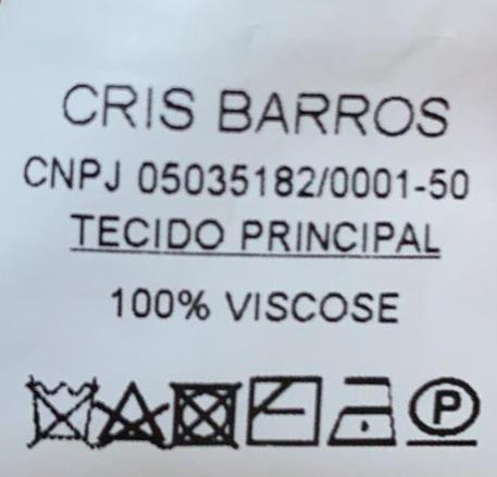 CONJUNTO CRIS BARROS ROSA CALÇA TAM 34 TUNICA TAM 36