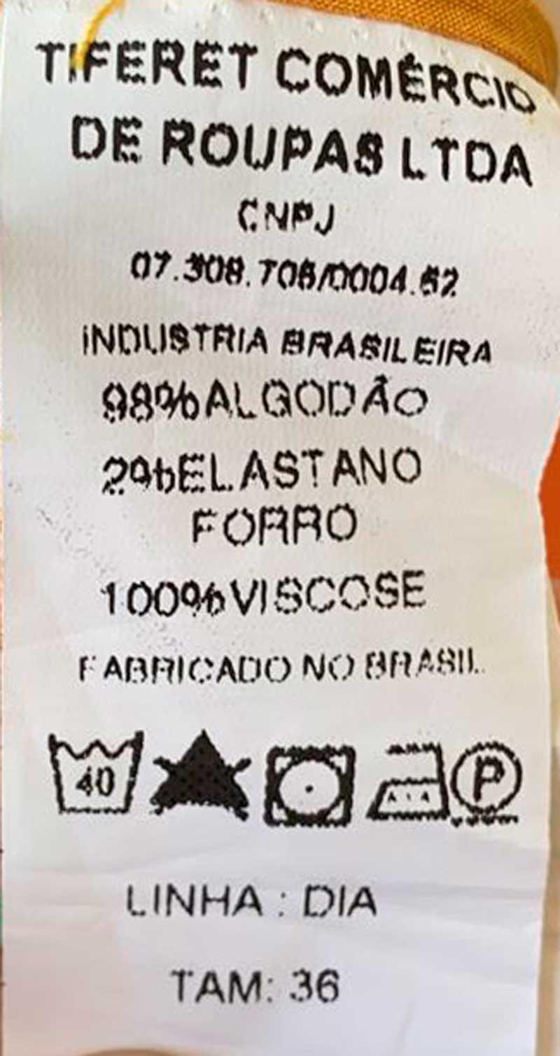SAIA EVA ALGODÃO LARANJA FUNDO FLAMINGO TAM 36