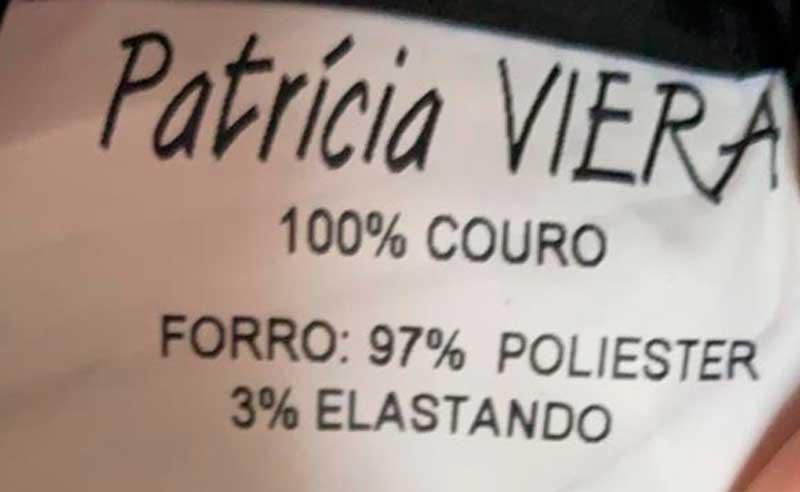 SAIA PATRICIA VIEIRA COURO MARROM TAM 40