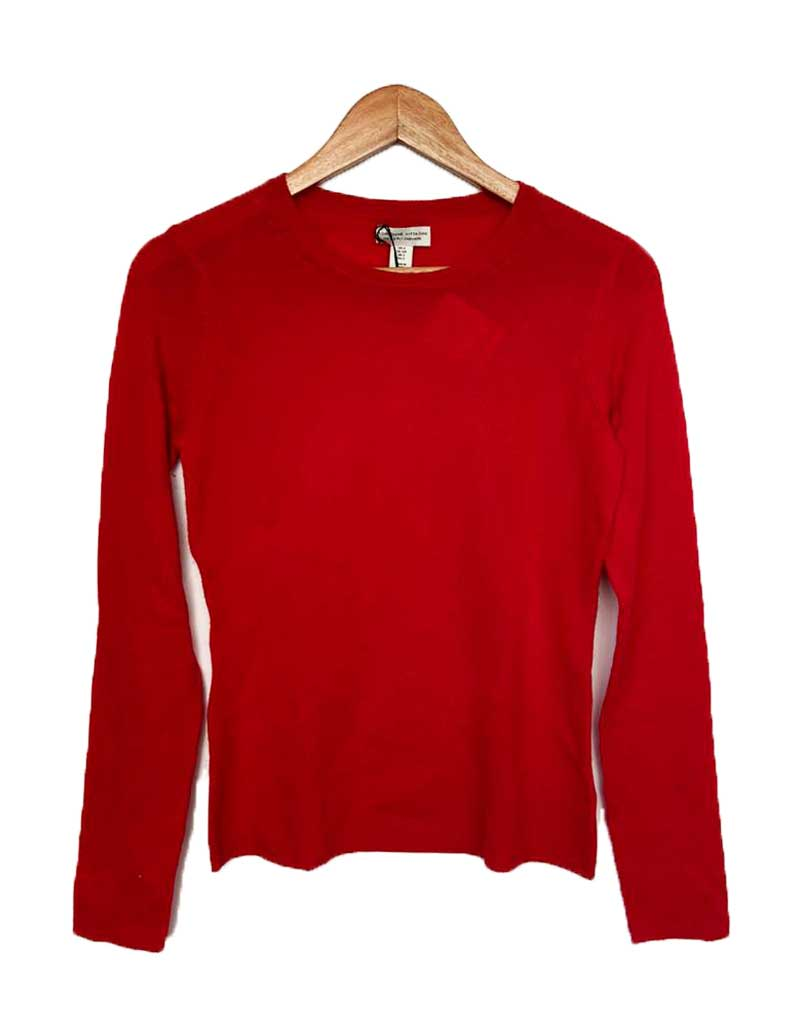 SUETER ADRIENNE VITTADINI CASHMERE VERMELHO SIZE SMALL