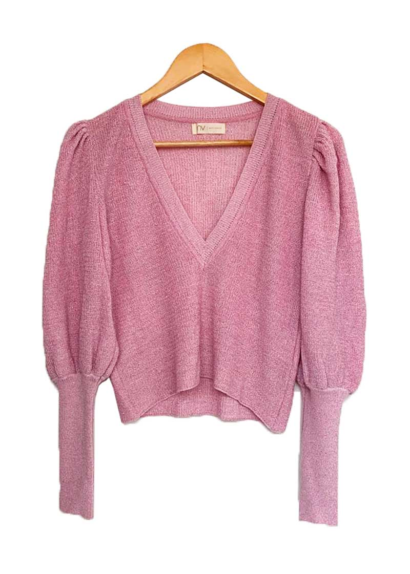 TOP BYNV ML ROSA LUREX TAM P
