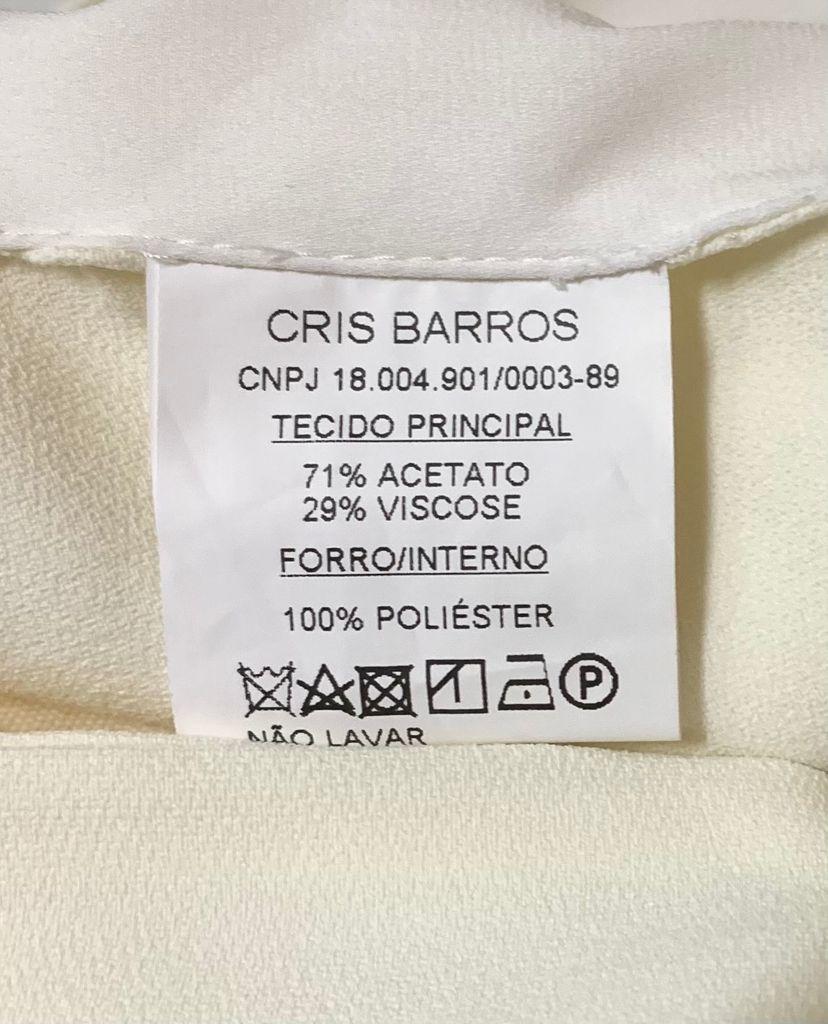 TOP CRIS BARROS OFF WHITE TAM 40