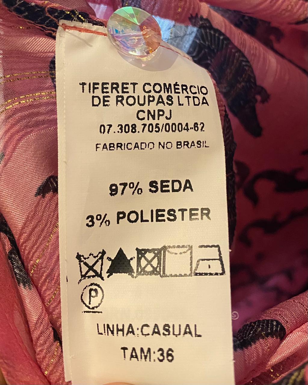 VESTIDO EVA ESTAMPA JACARÉ TAM 36