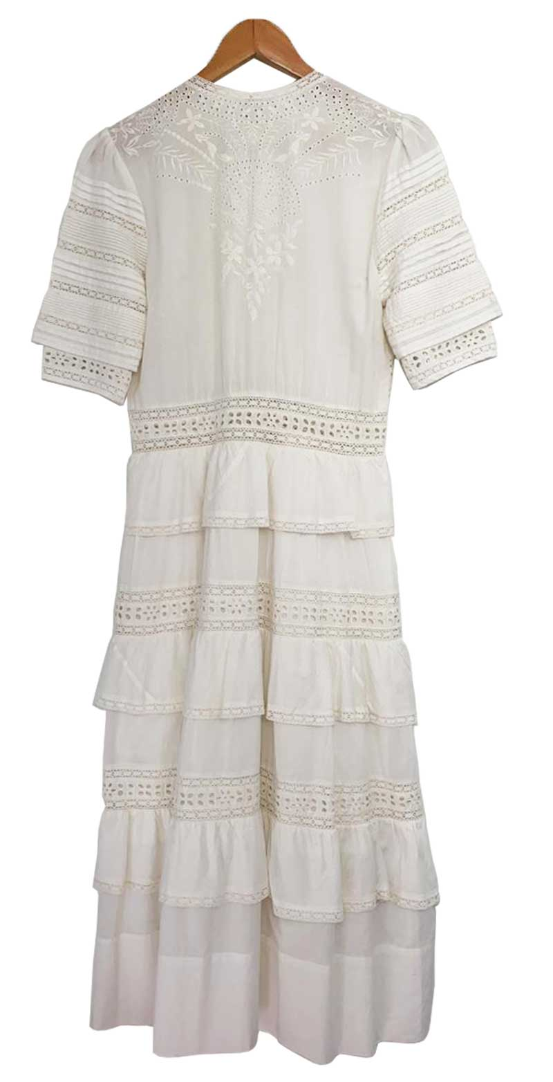 VESTIDO LOVE SHACH FANCY OFF WHITE TAM M