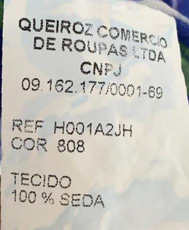VESTIDO PRINTING EST AZUL FLORES BRANCAS TAM 40