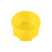 Caixa de Luz 3x3 Octogonal Amarela Tramontina