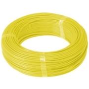 Fio Cabo Flexível 6mm Sil Flexsil O Melhor C/ 1m - Amarelo
