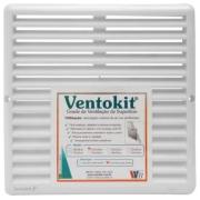 Grade de Ventilação de Superfície 19x19cm Branco Ventokit