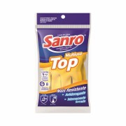 Luva Top Multiuso Para Limpeza Amarela XG Sanro