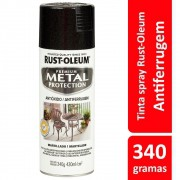 Spray Metal Protection Anticorrosivo Preto Brilhante 340g Rust Oleum