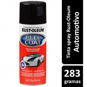 Tinta Spray Automotiva Envelopamento Removível Preto Brilhante Rust Oleum
