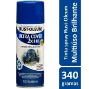 Tinta Spray Azul Profundo Brilhante Ultra Cover Rust Oleum