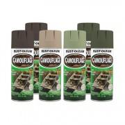Tinta Spray Camuflagem Verde Floresta Rust Oleum