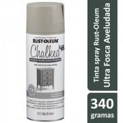 Tinta Spray Chalked Efeito Giz Cinza Fazenda Rust Oleum