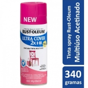 Tinta Spray Ultra Cover Magenta Acetinado Rust Oleum