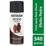 Tinta Spray Efeito Pedra Granito Stone Preto Rust Oleum