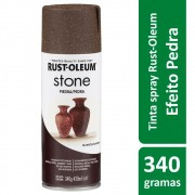Tinta Spray Efeito Pedra Mineral Marrom Stone Rust Oleum