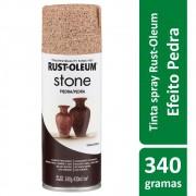 Tinta Spray Efeito Pedra Bege Sienna Stone Rust Oleum