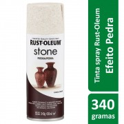 Tinta Spray Efeito Pedra Stone Travertino Creme Rust Oleum